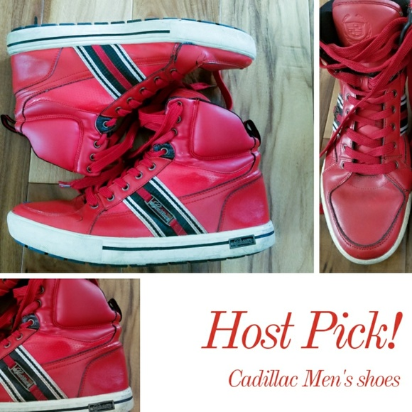 c5b425759c5 cadillac Other - Red leather Cadillac kicks 12 shoes Streetwear